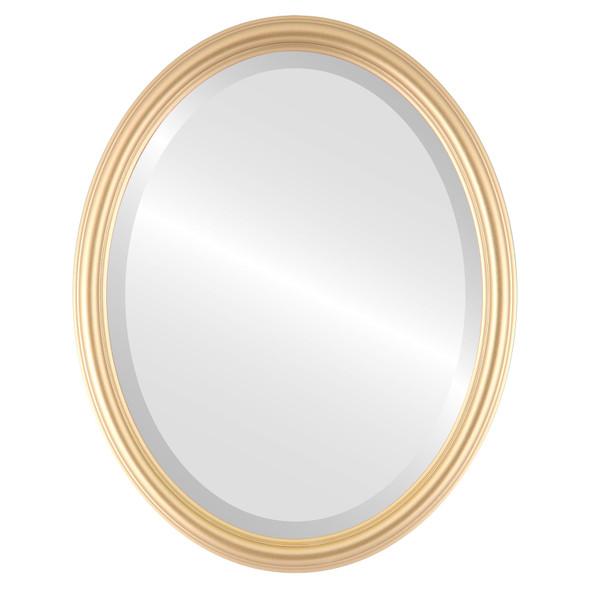 Beveled Mirror - Saratoga Oval Frame - Gold Spray