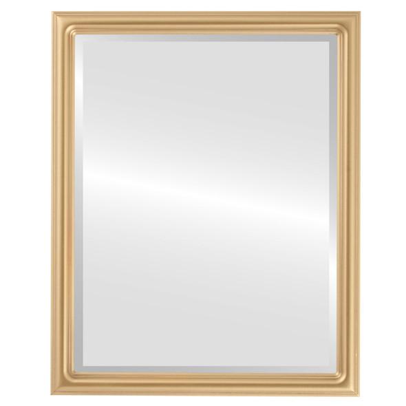 Beveled Mirror - Saratoga Rectangle Frame - Gold Spray