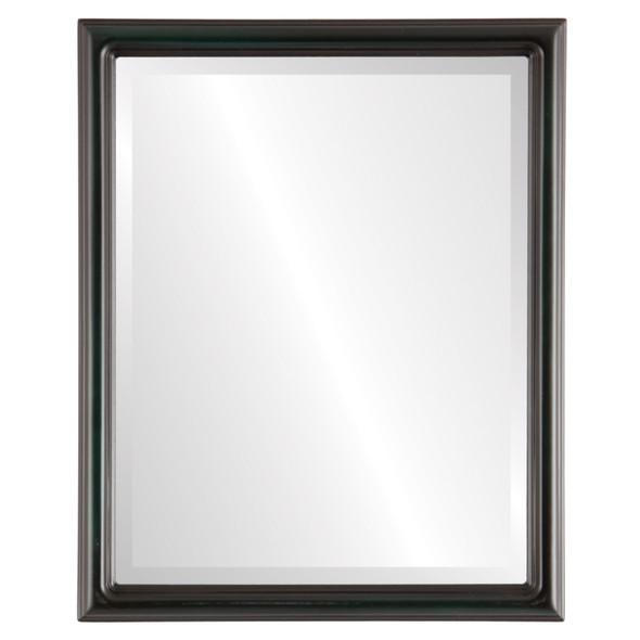 Beveled Mirror - Saratoga Rectangle Frame - Hunter Green