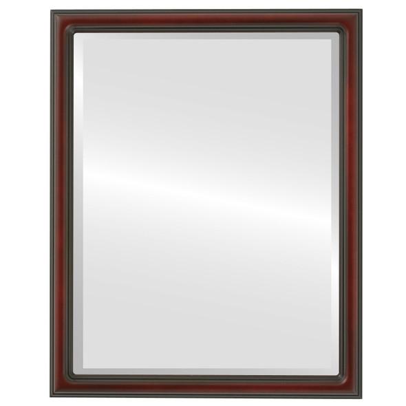 Beveled Mirror - Saratoga Rectangle Frame - Rosewood