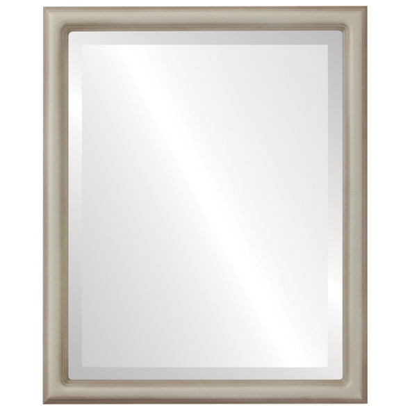Beveled Mirror - Saratoga Rectangle Frame - Taupe
