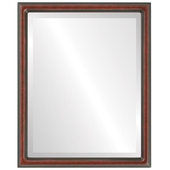 Beveled Mirror - Saratoga Rectangle Frame - Vintage Cherry