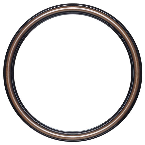 Beveled Mirror - Saratoga Round Frame - Walnut