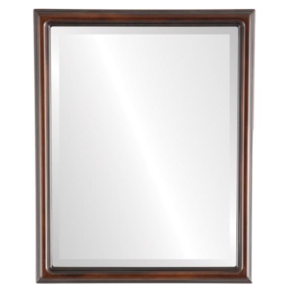 Beveled Mirror - Saratoga Rectangle Frame - Walnut