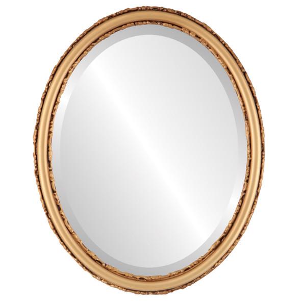 Beveled Mirror - Virginia Oval Frame - Desert Gold