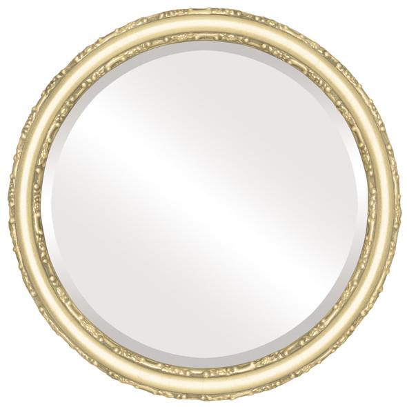 Beveled Mirror - Virginia Round Frame - Gold Leaf