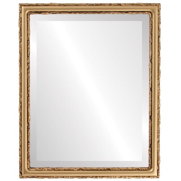 Beveled Mirror - Virginia Rectangle Frame - Gold Spray