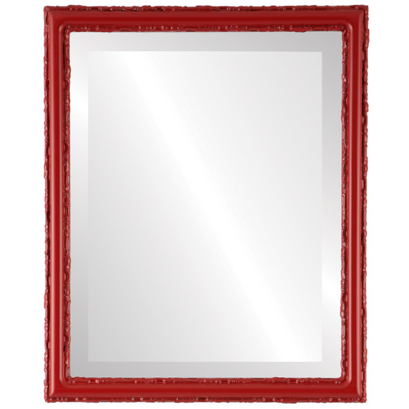 Beveled Mirror - Virginia Rectangle Frame - Holiday Red