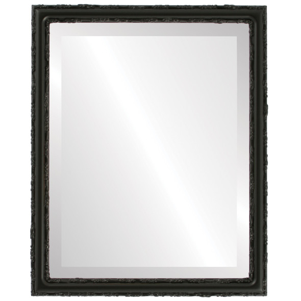 Beveled Mirror - Virginia Rectangle Frame - Matte Black