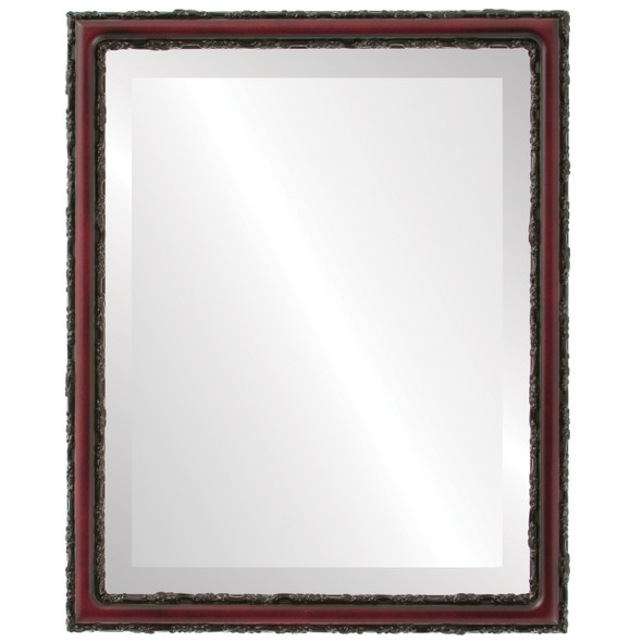 Beveled Mirror - Virginia Rectangle Frame - Rosewood