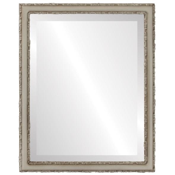 Beveled Mirror - Virginia Rectangle Frame - Taupe