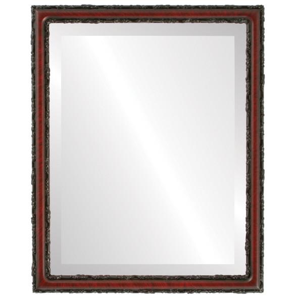 Beveled Mirror - Virginia Rectangle Frame - Vintage Cherry