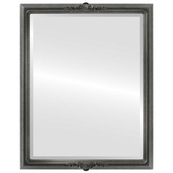 Beveled Mirror - Contessa Rectangle Frame - Black Silver