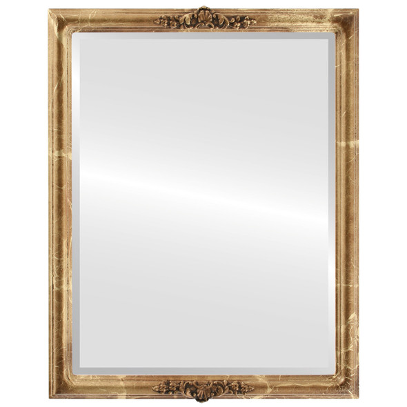 Beveled Mirror - Contessa Rectangle Frame - Champagne Gold