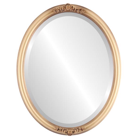 Beveled Mirror - Contessa Oval Frame - Desert Gold