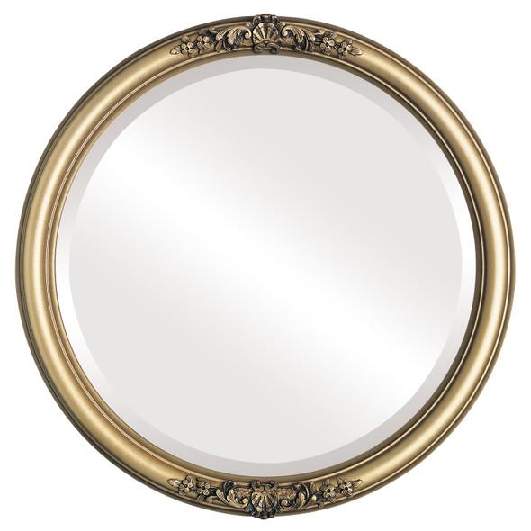 Beveled Mirror - Contessa Round Frame - Desert Gold