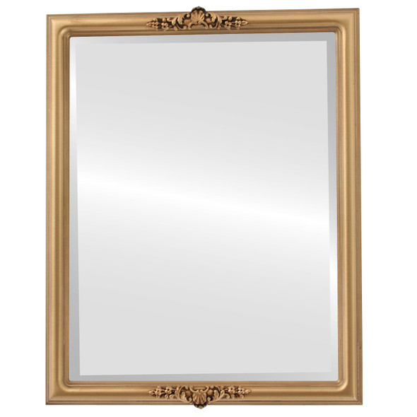Beveled Mirror - Contessa Rectangle Frame - Desert Gold