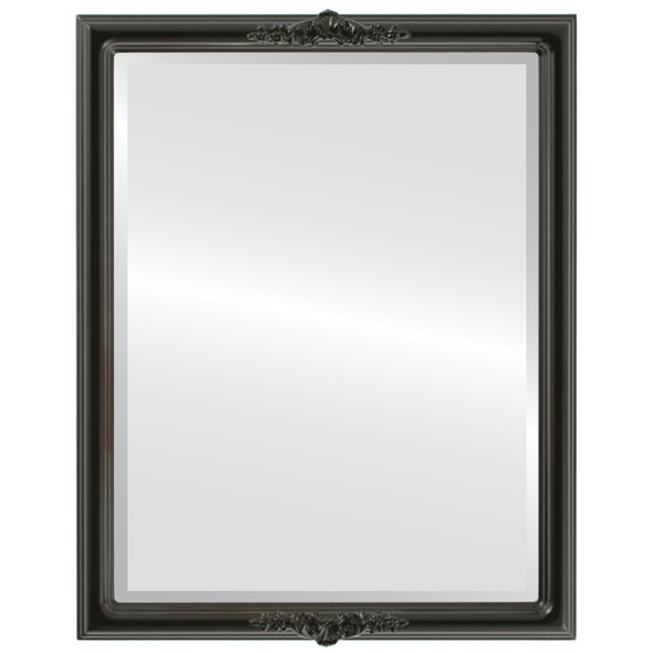 Beveled Mirror - Contessa Rectangle Frame - Gloss Black