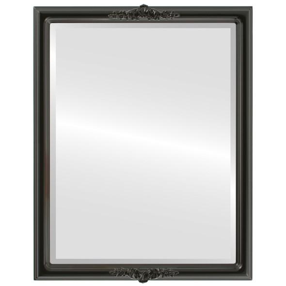 Beveled Mirror - Contessa Rectangle Frame - Gloss Black