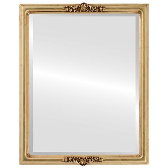 Beveled Mirror - Contessa Rectangle Frame - Gold Leaf