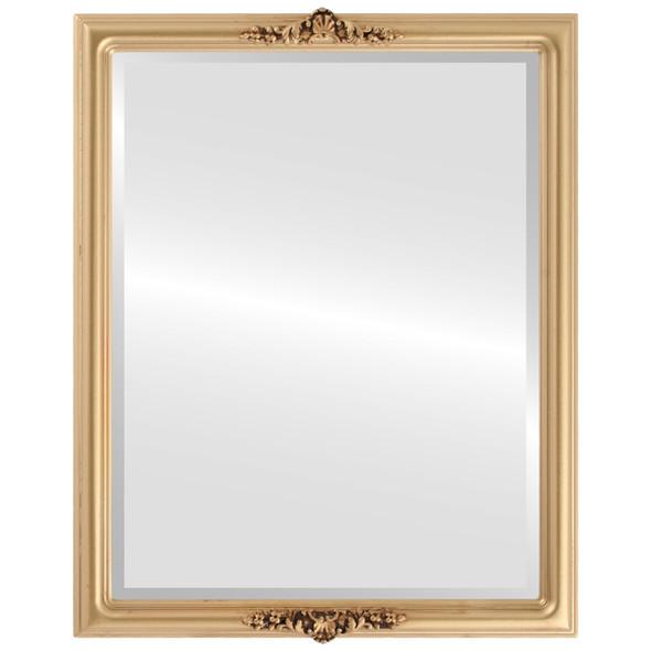 Beveled Mirror - Contessa Rectangle Frame - Gold Spray