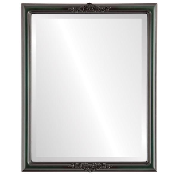 Beveled Mirror - Contessa Rectangle Frame - Hunter Green