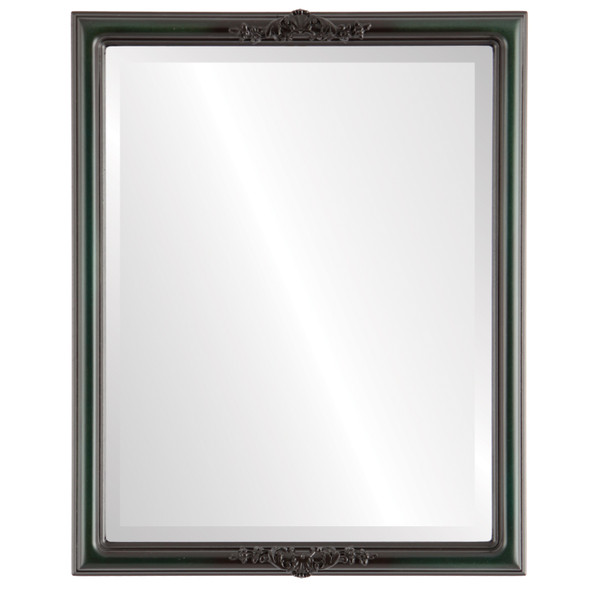 Beveled Mirror - Contessa Rectangle Frame - Hunter Green