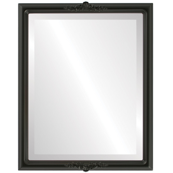 Beveled Mirror - Contessa Rectangle Frame - Matte Black
