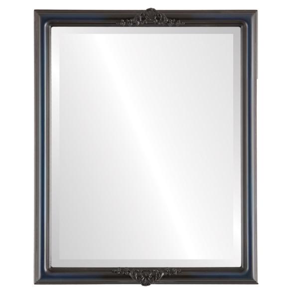 Beveled Mirror - Contessa Rectangle Frame - Royal Blue