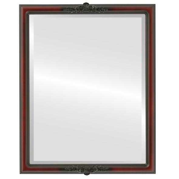 Beveled Mirror - Contessa Rectangle Frame - Rosewood