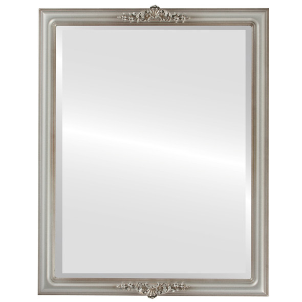 Beveled Mirror - Contessa Rectangle Frame - Silver Shade