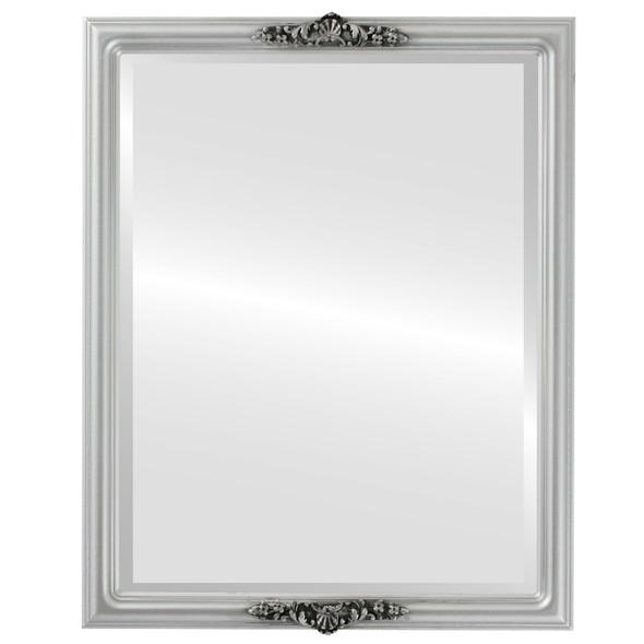 Beveled Mirror - Contessa Rectangle Frame - Silver Spray
