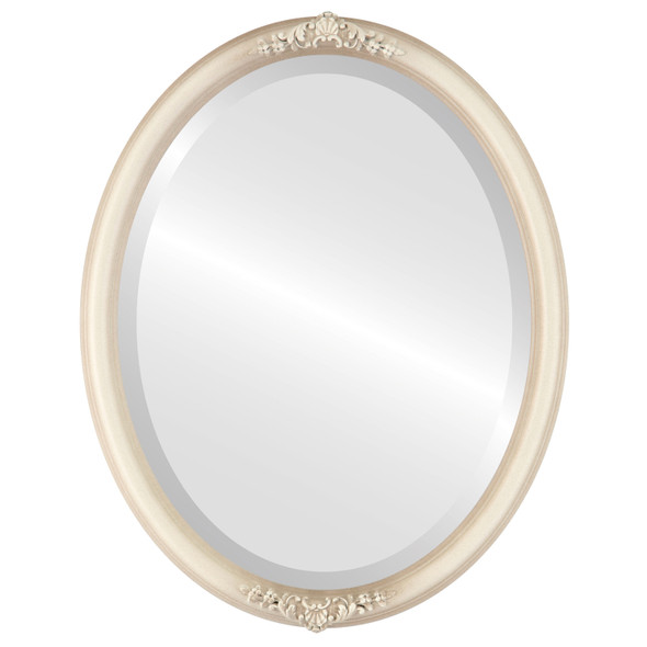 Beveled Mirror - Contessa Oval Frame - Taupe