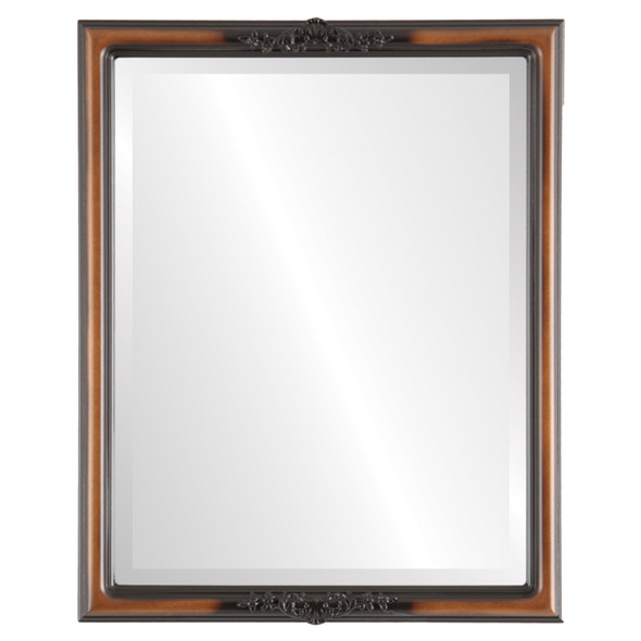 Beveled Mirror - Contessa Rectangle Frame - Walnut