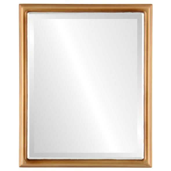 Beveled Mirror - Hamilton Rectangle Frame - Desert Gold with Silver Lip