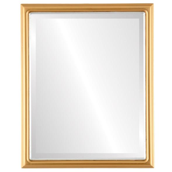 Beveled Mirror - Hamilton Rectangle Frame - Gold Spray with Silver Lip