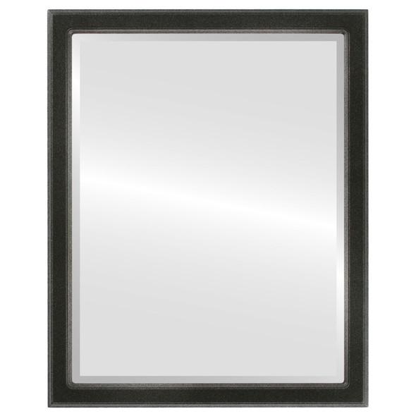 Beveled Mirror - Toronto Rectangle Frame - Black Silver