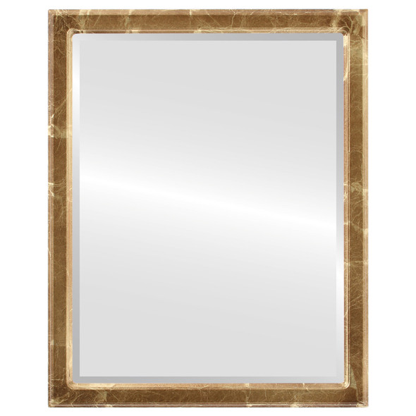 Beveled Mirror - Toronto Rectangle Frame - Champagne Gold