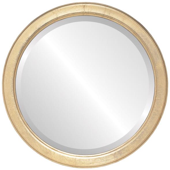 Beveled Mirror - Toronto Round Frame - Gold Leaf