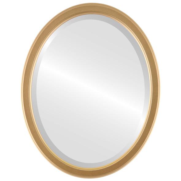 Beveled Mirror - Toronto Oval Frame - Gold Spray