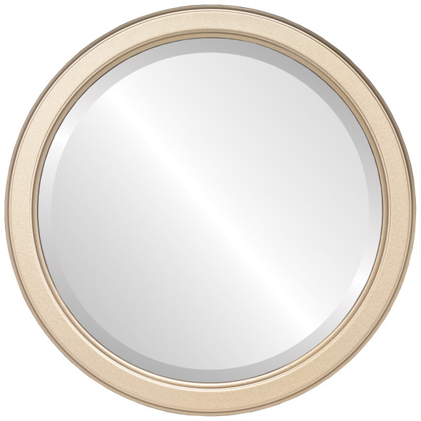 Beveled Mirror - Toronto Round Frame - Gold Spray