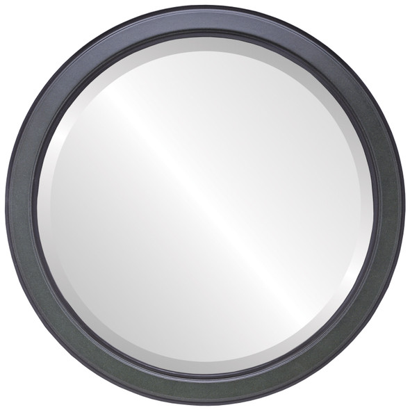 Beveled Mirror - Toronto Round Frame - Hunter Green