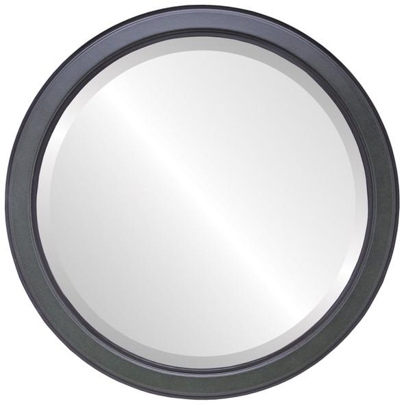 Beveled Mirror - Toronto Round Frame - Hunter Green