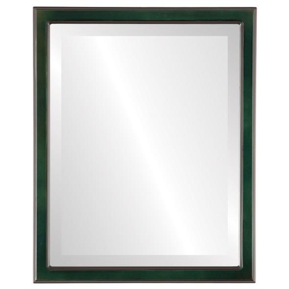 Beveled Mirror - Toronto Rectangle Frame - Hunter Green