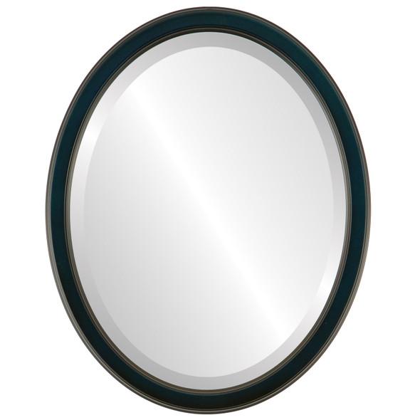 Beveled Mirror - Toronto Oval Frame - Royal Blue