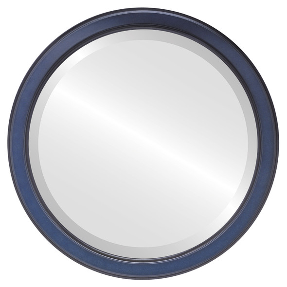 Beveled Mirror - Toronto Round Frame - Royal Blue