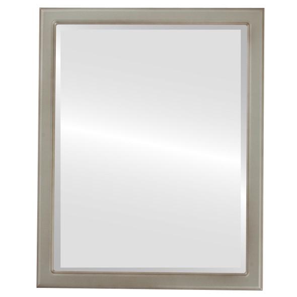 Beveled Mirror - Toronto Rectangle Frame - Silver Shade