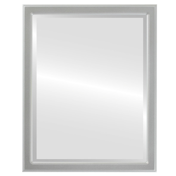 Beveled Mirror - Toronto Rectangle Frame - Silver Spray