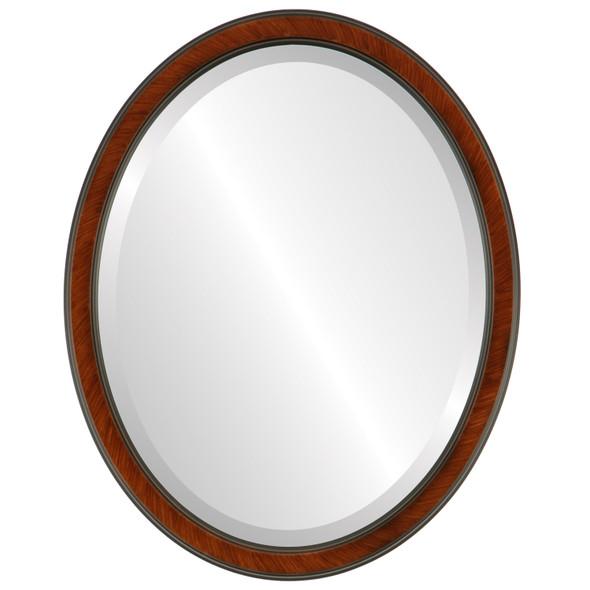 Beveled Mirror - Toronto Oval Frame - Vintage Cherry