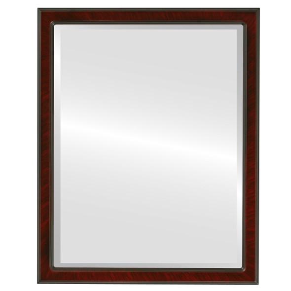 Beveled Mirror - Toronto Rectangle Frame - Vintage Cherry